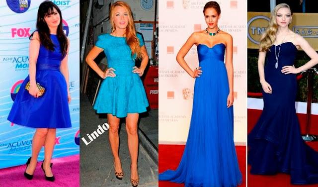 tendências vestidos festas noite azul