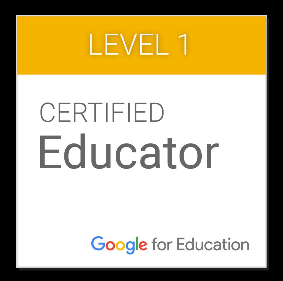 Google Certified Educator - Level 1