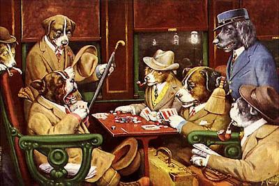 Perros Jugando al Póquer - Cassius Marcellus Coolidge