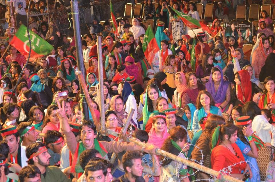 pti girls, azadi march, azadi square,