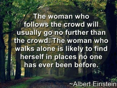 Women Empowerment - A thought by Albert Einstine