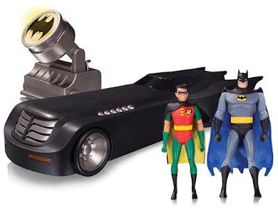 "Batman: The Animated Series Deluxe Batmobile 6"" Scale Vehicle Box Set - Batman, Robin, Batmobile & Batsignal"