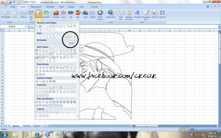 Younique Tutorial Melukis Menggunakan Microsoft Office Excel 2007