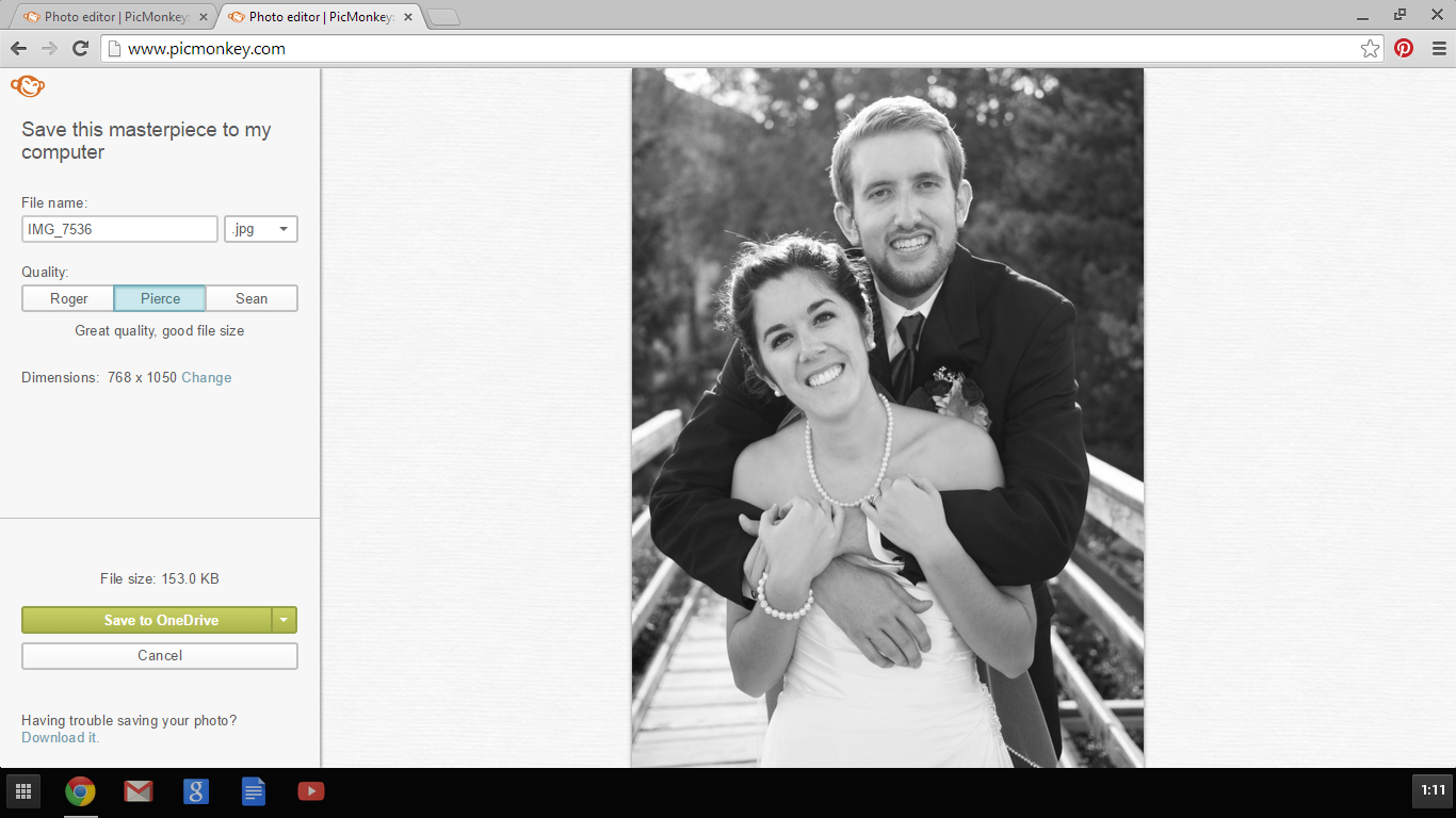wedding picture design project