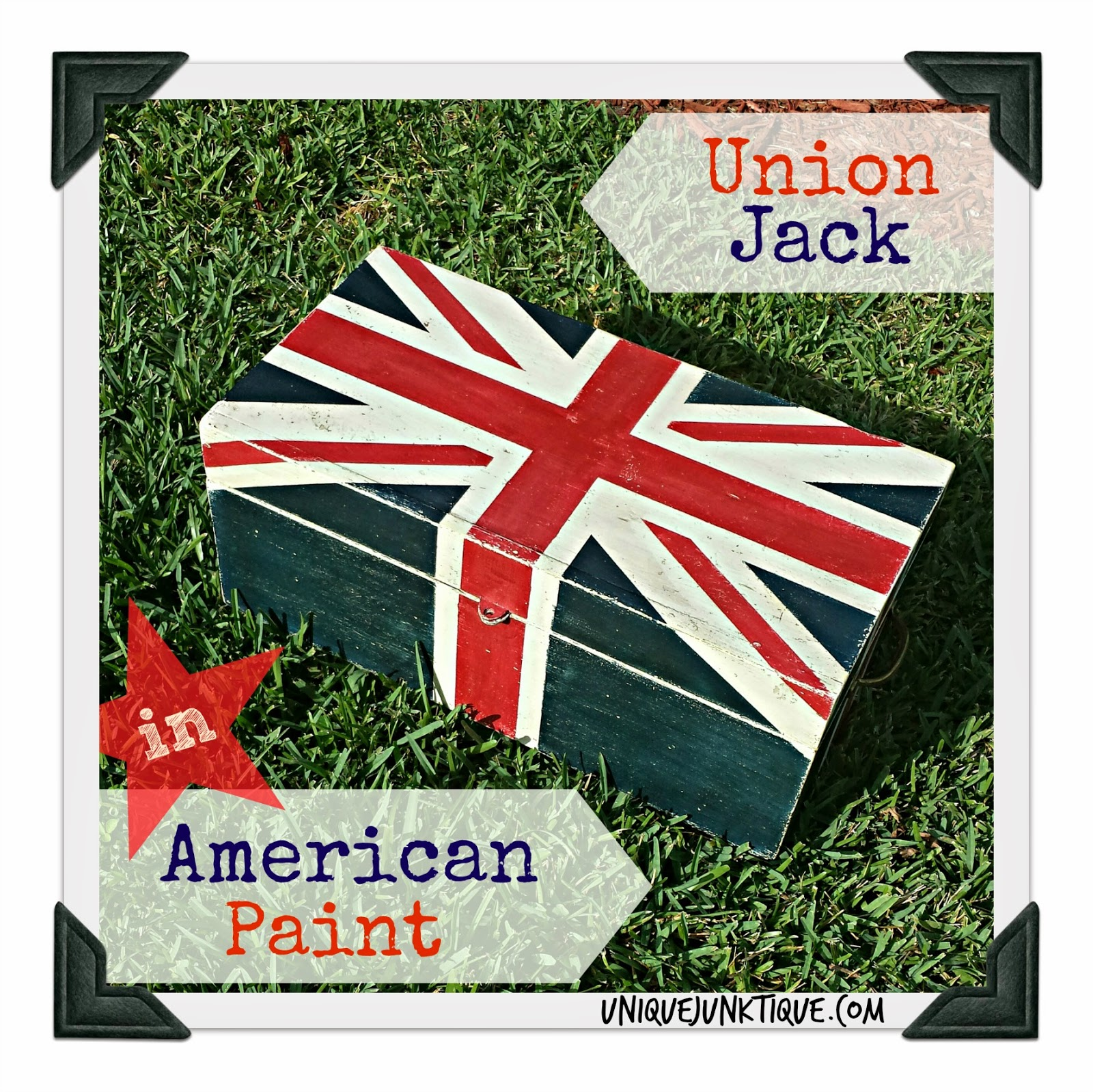 Union Jack In American Paint by Unique Junktique