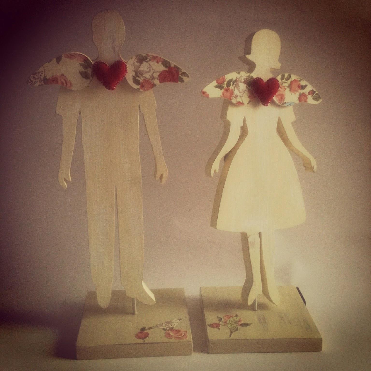 pareja, ángeles