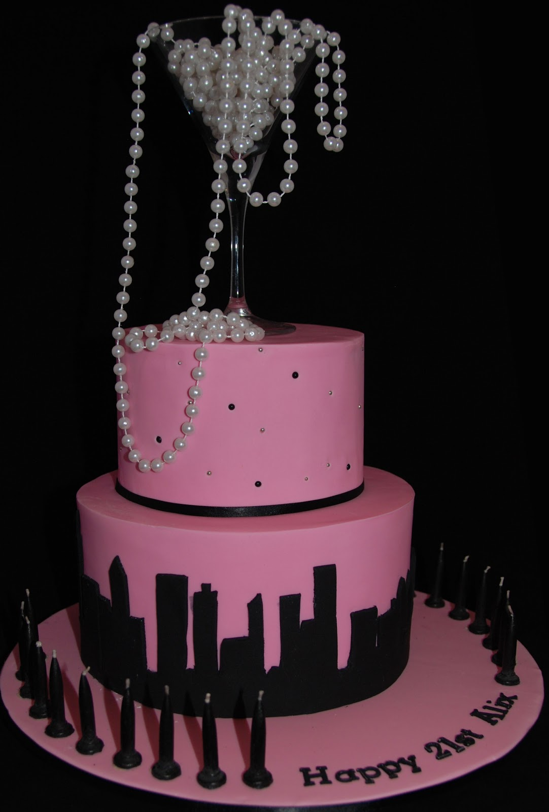 Little Robin Sex In The City 21st Birthday Cake