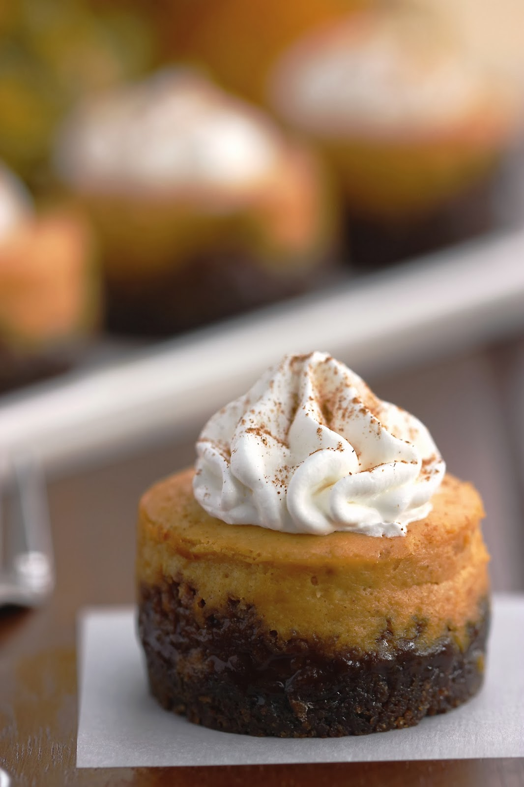 Pumpkin Cheesecakes with Gingersnap Crust | Cooking on the ...