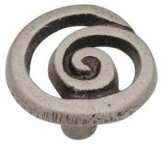 Pewter Swirl Knob - FHF