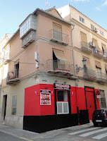 Contaminación Visual del Paisaje Urbano Histórico de Málaga: esquina de calle Peña con calle Montaño