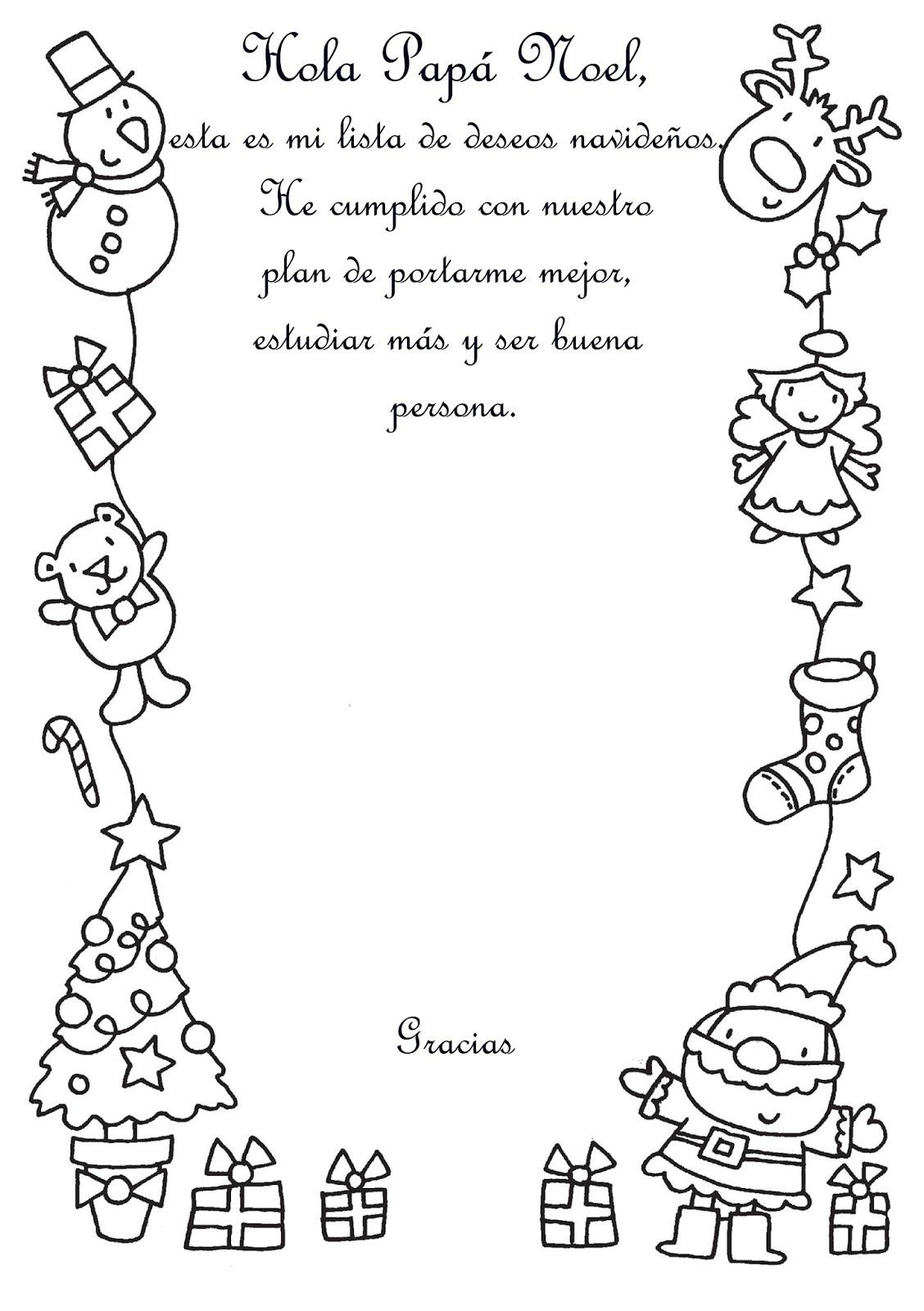 LAS IDEAS DE RODI: Carta para Papá Noel- Letter to Santa Claus