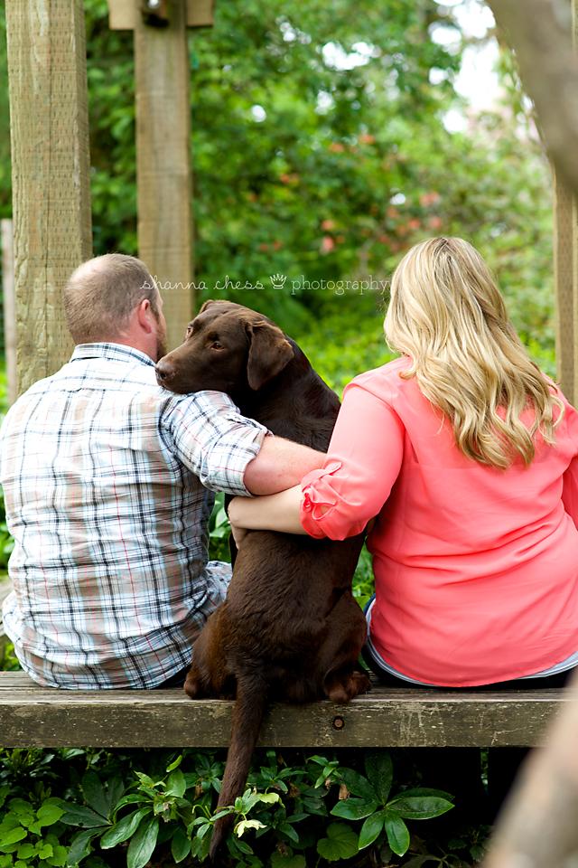 eugene, or engagement photography dog