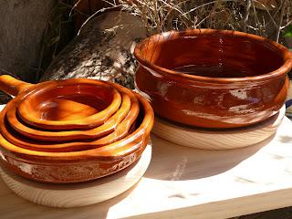 Cazuela wooden boards