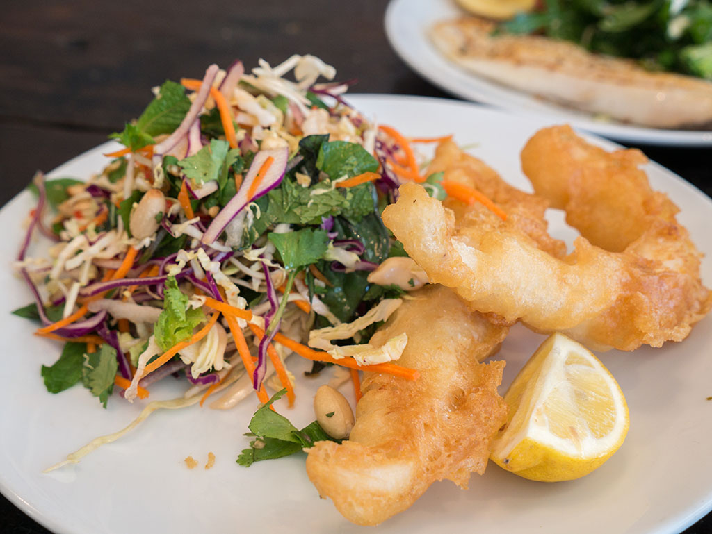 Purple bowl hooked fitzroy review for Light batter for fish