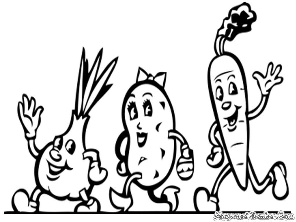 Gambar Mewarnai Sayuran | Mewarnai Gambar