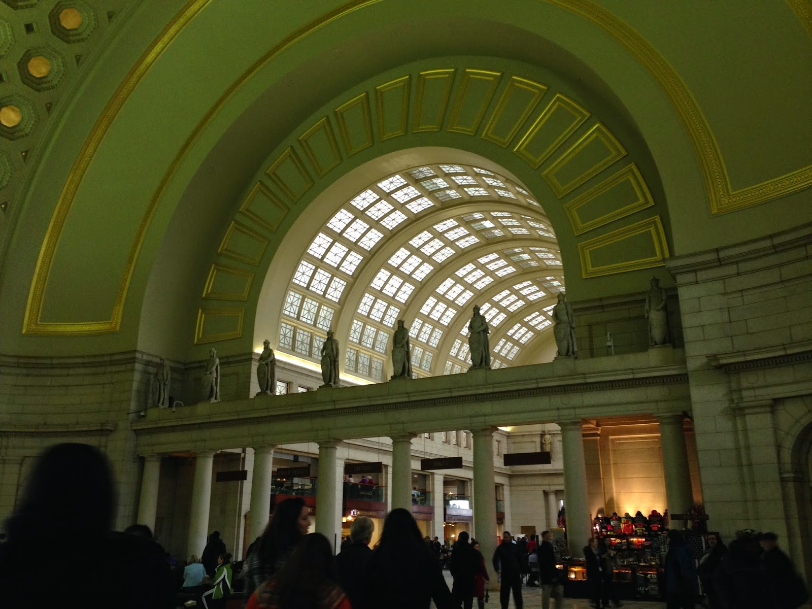 Inside Washington D.C. train station