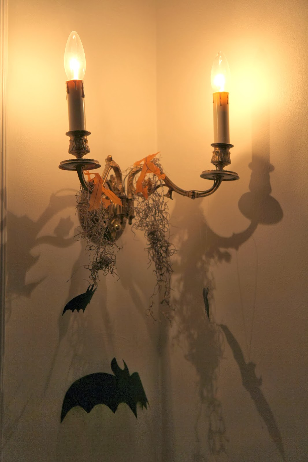 Bats on Sconces; Hauntify Your House for Halloween