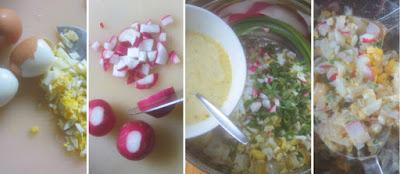 Zubereitung Eiersalat mit Radieschen und Schnittlauch, Eiersalat mit Schnittlauch selber machen