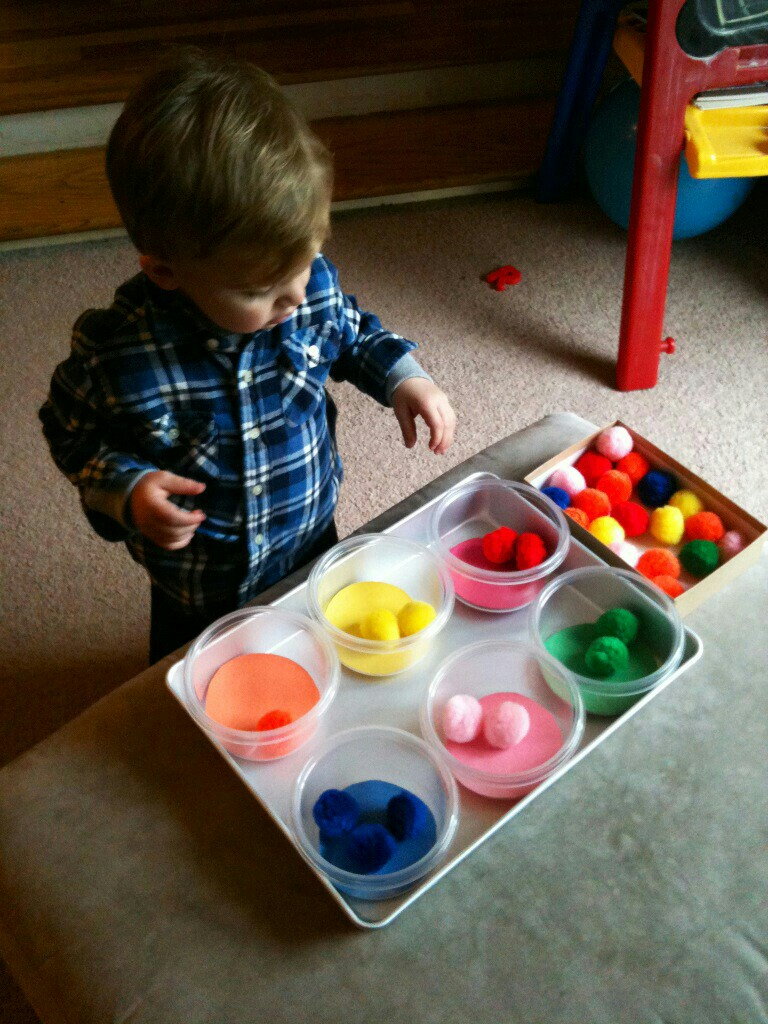 Activities for colors for toddlers - Diy Color Recognition Sorting Learning Activities