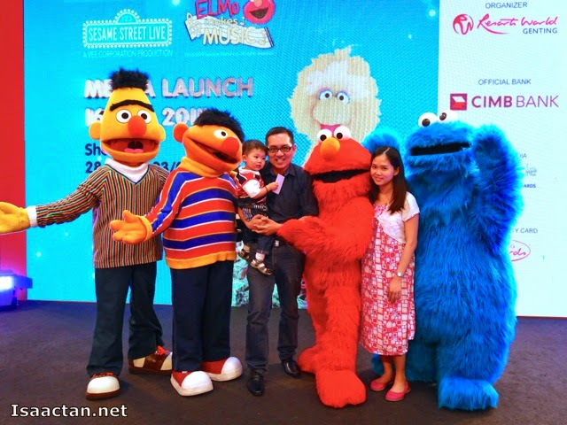 One for the album, I did not miss the chance to snap a pic with the Sesame Street characters.