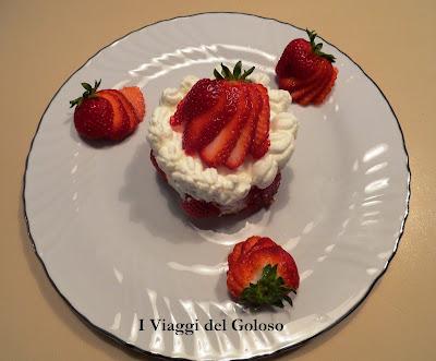 dolci panna e fragole