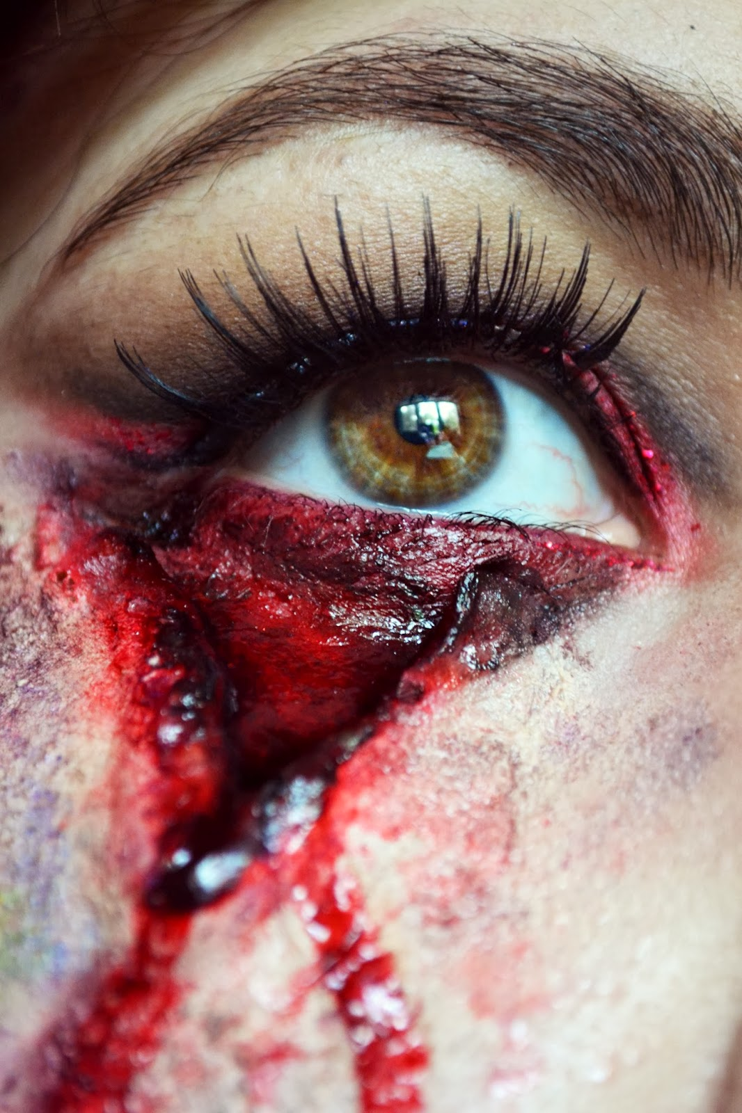 Halloween Bloody Eye Makeup Theme