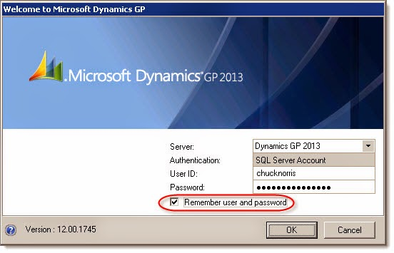 Dynamics GP Land: Behind the Dynamics GP Remember User and Password ...