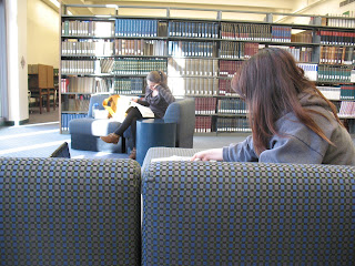 Image of students studying at Armacost Library