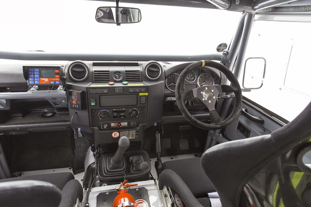 Bowler Defender Challenge Car interior