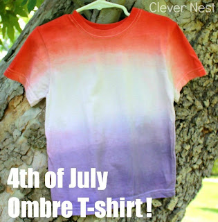 Dying is confusing! This tutorial makes it easy to dye ombre tshirts! #patriotic #fourthofjuly #summer #redwhiteandblue