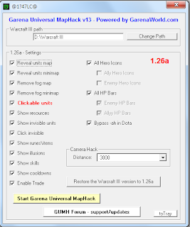 Garena Universal MapHack 13 - GUMH 13 for Warcraft 1.26a Patch