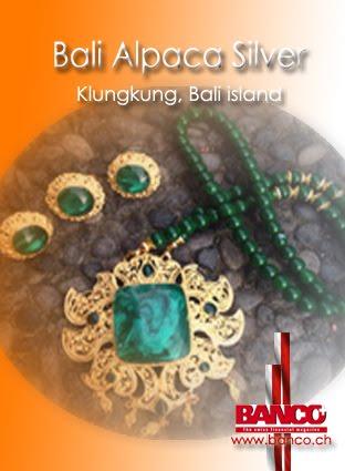 Bali gemstones jewellry Klungkung, Alpaca Silver - Kamasan Village