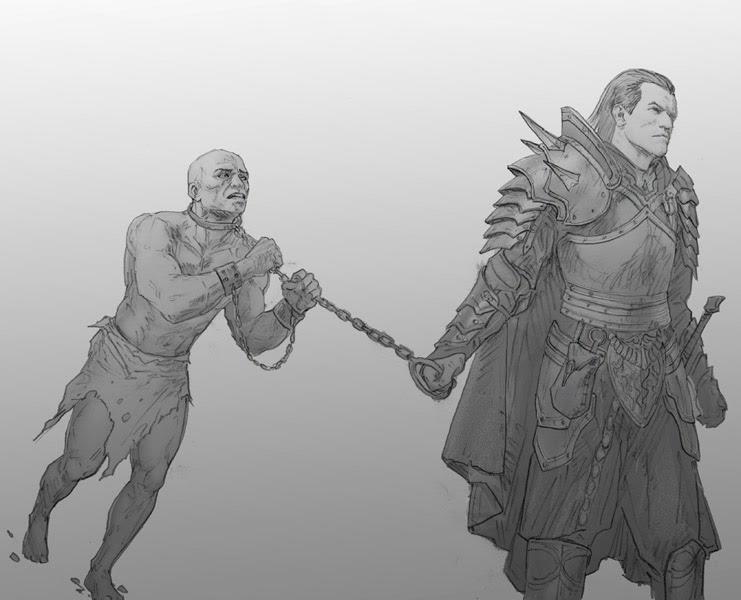 Iron Ring Slaves Fantasy Art