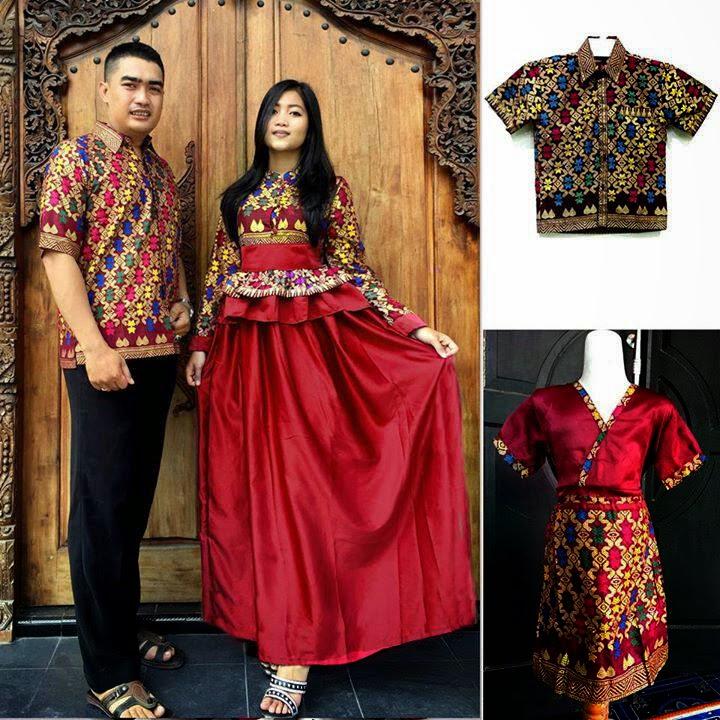 Model Gamis Batik Terbaru Sarimbit Merah Black Models