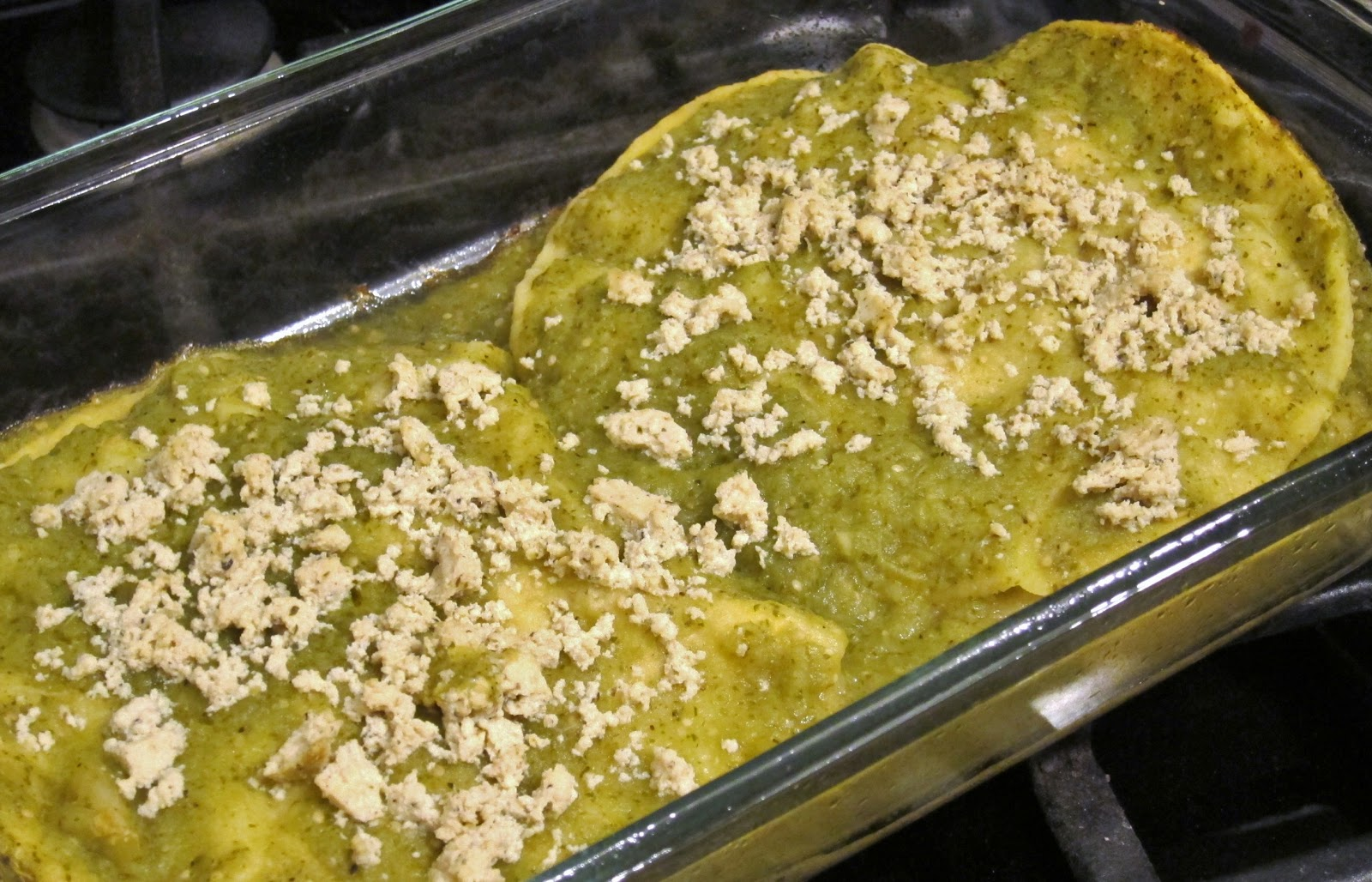 The Vegan Chronicle: Green Chile and Chicken Enchiladas