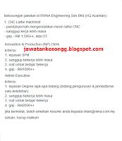RWNA Engineering Jawatan Kosong