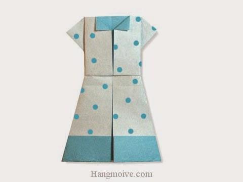 Cách gấp, xếp váy cho teen bằng giấy origami - Video hướng dẫn xếp hình quần áo - How to fold a teen Dress