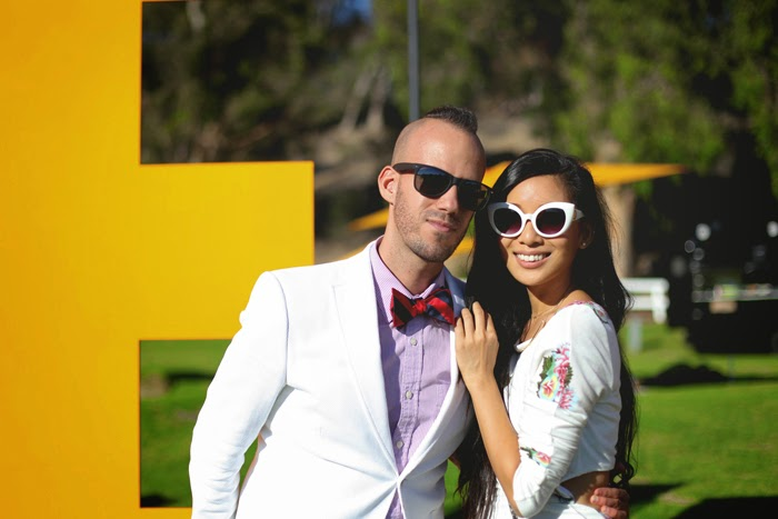Kyle Hjelmeseth and Stephanie Liu at 4th Annual Veuve Clicquot Polo Classic