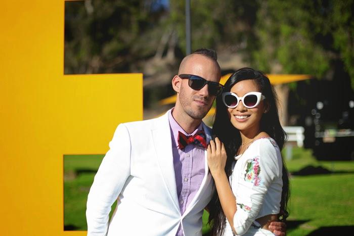 Kyle Hjelmeseth and Stephanie Liu at 4th Annual Veuve Clicquot Polo Classic