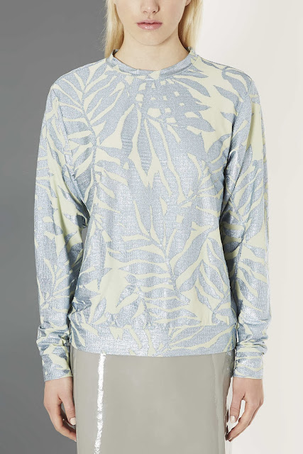 topshop boutique blue jumper