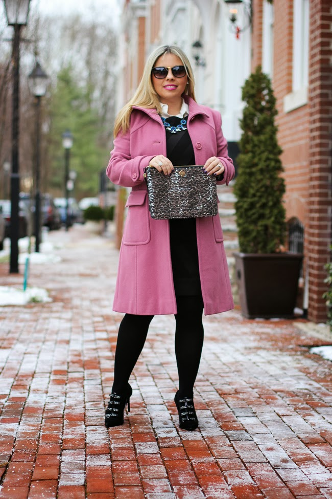 Little Black Dress and Pink Jacket