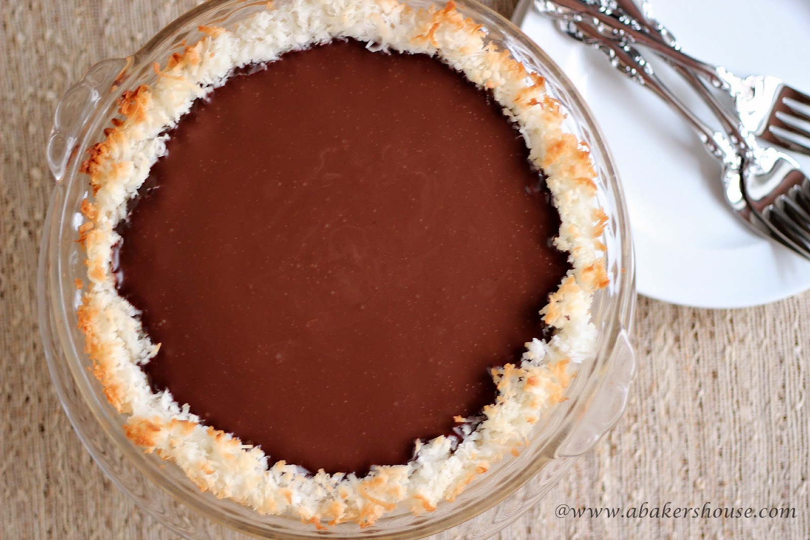 Coconut and Chocolate Pie for #PiDay | A Baker's House