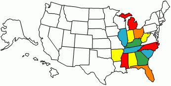 States Visited in Our RV