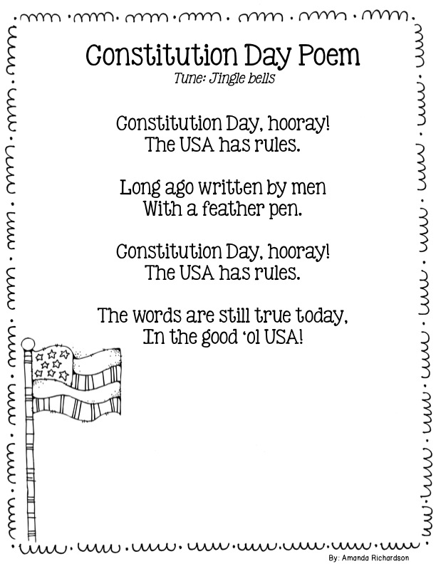 Mrs richardson 39 s class constitution day freebie for Constitution day coloring pages first grade