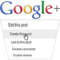 Google+ Delete Post Icon