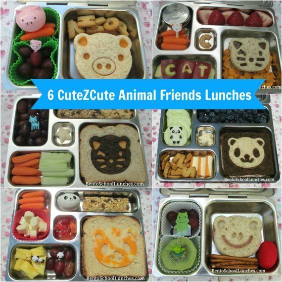 6 CuteZCute Animal Friends Lunches