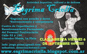 Clase Abierta Esgrima Criolla (7/9/13)