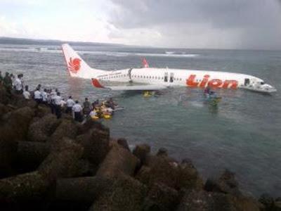 Pesawat Lion Air Jatuh di Bali