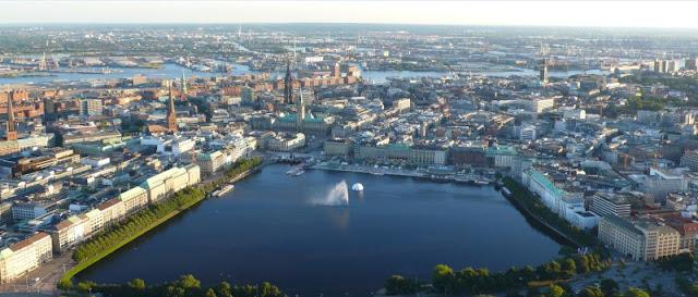 Panorámica de Hamburgo en Alemania