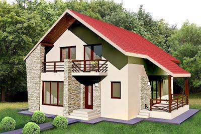 Proiecte case mici - casa Cernica varianta de 180mp